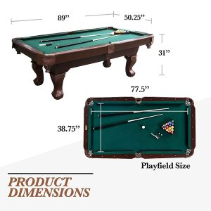 Barrington Springdale 90 Claw Leg Billiard Table Set with Cues, Rack, Balls, Brush, and Chalk (23 Pieces).. - Copy