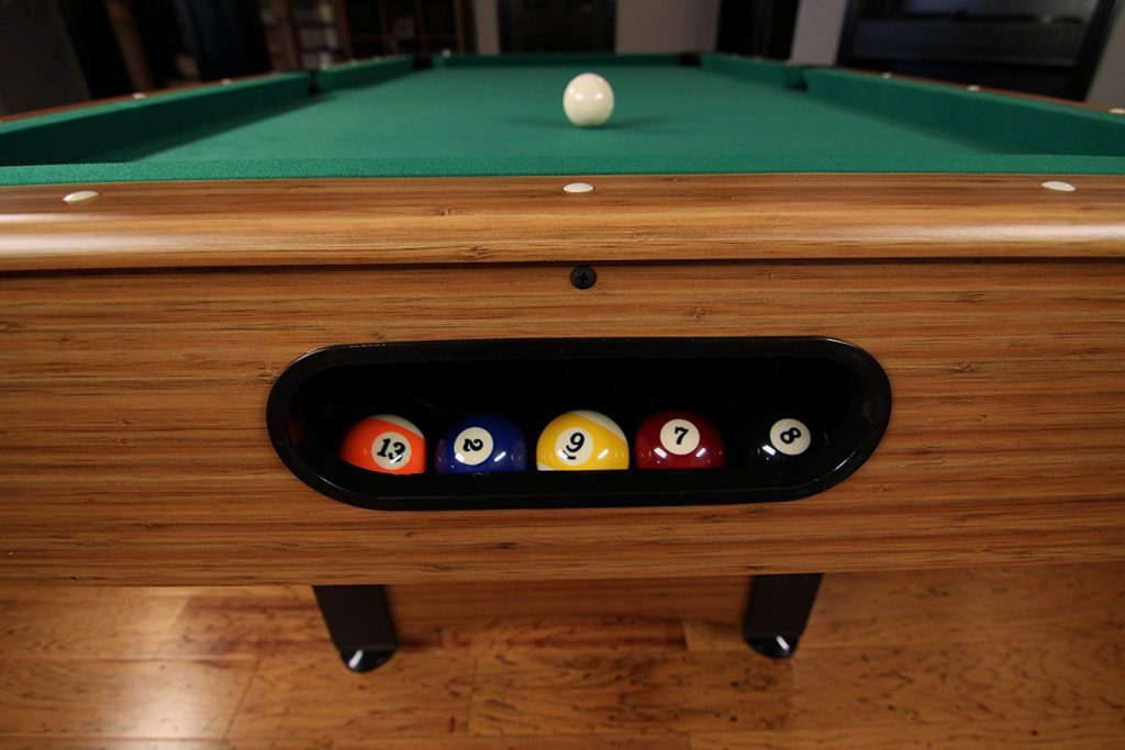 Mizerak Dynasty Space Saver 6.5' Billiard Table with Compact Design to Fit in Smaller Rooms, Leg Levelers for Perfectly Even Playing Surface
