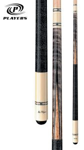 Players C-9921 Classic Smoke-Stained Birds-Eye Maple with Inlay Points and Cream Butt Cue_