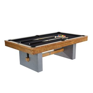 Barrington Urban Professional Billiard Pool Table, Full Set with Accessories, Standard 8' - Modern and Stylish Wooden Playing Tables with Balls, Cues, Rack - Billiards Game Complete Sets