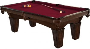 Brunswick 8-Foot Glen Oaks Pool Table with Free Contender Play Package Accessories and Brunswick Contender Cloth